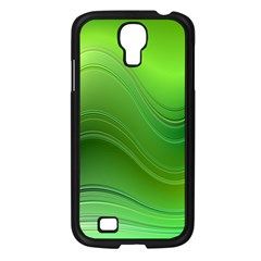 Green Wave Background Abstract Samsung Galaxy S4 I9500/ I9505 Case (black)