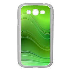 Green Wave Background Abstract Samsung Galaxy Grand Duos I9082 Case (white) by BangZart