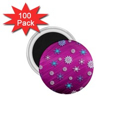 Snowflakes 3d Random Overlay 1 75  Magnets (100 Pack)