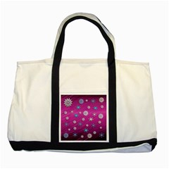 Snowflakes 3d Random Overlay Two Tone Tote Bag