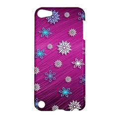 Snowflakes 3d Random Overlay Apple Ipod Touch 5 Hardshell Case by BangZart