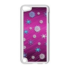 Snowflakes 3d Random Overlay Apple Ipod Touch 5 Case (white) by BangZart