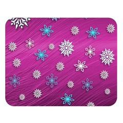Snowflakes 3d Random Overlay Double Sided Flano Blanket (large)  by BangZart