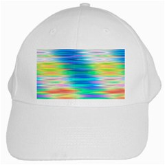 Wave Rainbow Bright Texture White Cap by BangZart