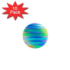 Wave Rainbow Bright Texture 1  Mini Magnet (10 Pack)