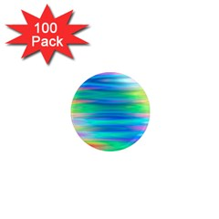 Wave Rainbow Bright Texture 1  Mini Magnets (100 Pack)