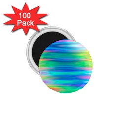 Wave Rainbow Bright Texture 1 75  Magnets (100 Pack)