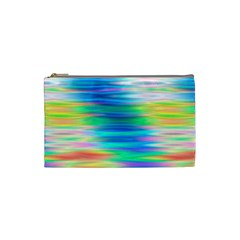 Wave Rainbow Bright Texture Cosmetic Bag (small)  by BangZart