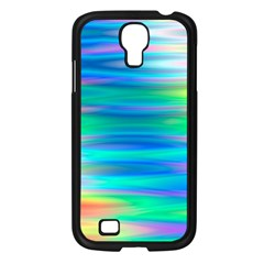 Wave Rainbow Bright Texture Samsung Galaxy S4 I9500/ I9505 Case (black)