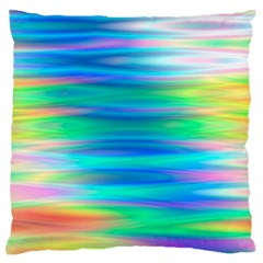 Wave Rainbow Bright Texture Large Flano Cushion Case (two Sides)