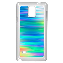 Wave Rainbow Bright Texture Samsung Galaxy Note 4 Case (white)