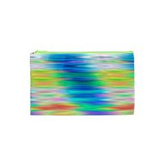 Wave Rainbow Bright Texture Cosmetic Bag (xs) by BangZart