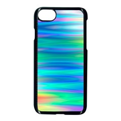 Wave Rainbow Bright Texture Apple Iphone 8 Seamless Case (black) by BangZart