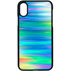 Wave Rainbow Bright Texture Apple Iphone X Seamless Case (black)