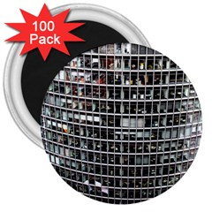 Skyscraper Glass Facade Offices 3  Magnets (100 Pack)