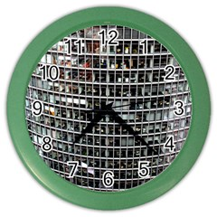Skyscraper Glass Facade Offices Color Wall Clocks by BangZart