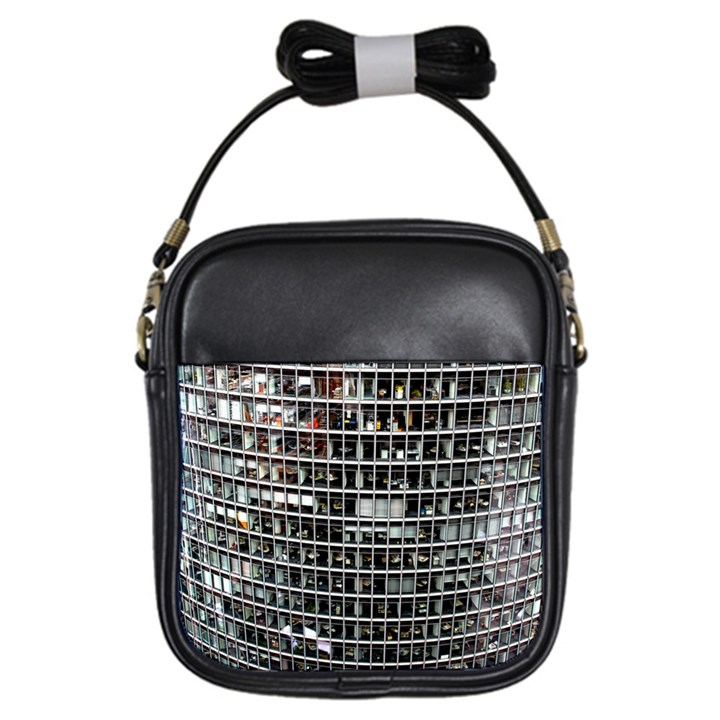 Skyscraper Glass Facade Offices Girls Sling Bags