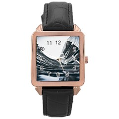 Architecture Modern Skyscraper Rose Gold Leather Watch