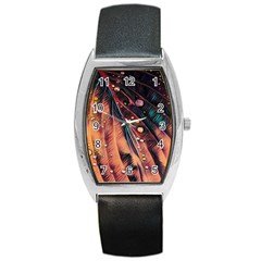 Abstract Wallpaper Images Barrel Style Metal Watch