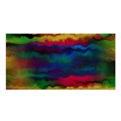 Watercolour Color Background Satin Shawl