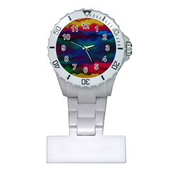Watercolour Color Background Plastic Nurses Watch