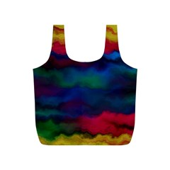 Watercolour Color Background Full Print Recycle Bags (s)