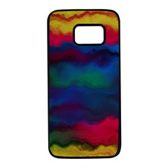 Watercolour Color Background Samsung Galaxy S7 Black Seamless Case