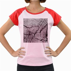 Abstract Background Texture Grey Women s Cap Sleeve T-shirt