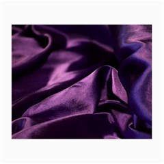 Shiny Purple Silk Royalty Small Glasses Cloth (2 Side)
