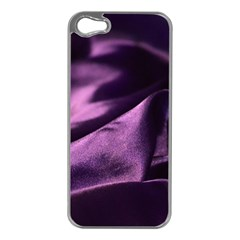 Shiny Purple Silk Royalty Apple Iphone 5 Case (silver)