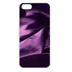Shiny Purple Silk Royalty Apple Iphone 5 Seamless Case (white)