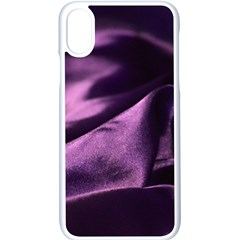 Shiny Purple Silk Royalty Apple Iphone X Seamless Case (white) by BangZart