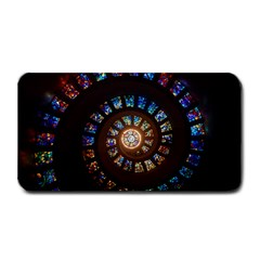 Stained Glass Spiral Circle Pattern Medium Bar Mats