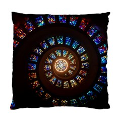 Stained Glass Spiral Circle Pattern Standard Cushion Case (two Sides) by BangZart