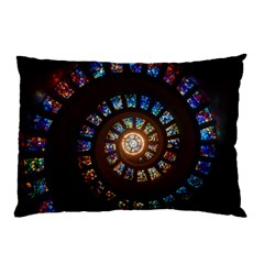Stained Glass Spiral Circle Pattern Pillow Case