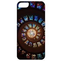 Stained Glass Spiral Circle Pattern Apple Iphone 5 Classic Hardshell Case by BangZart
