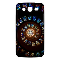 Stained Glass Spiral Circle Pattern Samsung Galaxy Mega 5 8 I9152 Hardshell Case