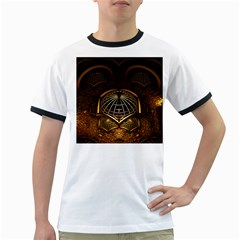 Fractal 3d Render Design Backdrop Ringer T-shirts by BangZart