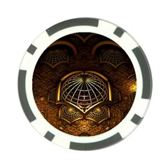 Fractal 3d Render Design Backdrop Poker Chip Card Guard (10 Pack) by BangZart