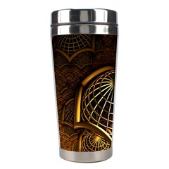 Fractal 3d Render Design Backdrop Stainless Steel Travel Tumblers