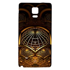 Fractal 3d Render Design Backdrop Galaxy Note 4 Back Case by BangZart