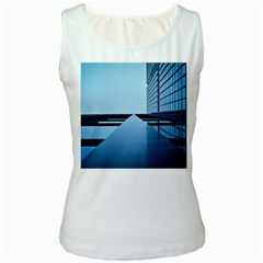 Architecture Modern Building Facade Women s White Tank Top