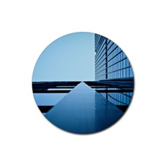 Architecture Modern Building Facade Rubber Round Coaster (4 Pack)  by BangZart