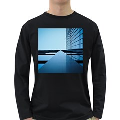 Architecture Modern Building Facade Long Sleeve Dark T Shirts by BangZart