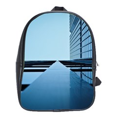 Architecture Modern Building Facade School Bag (large)