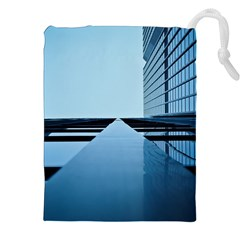 Architecture Modern Building Facade Drawstring Pouches (xxl)