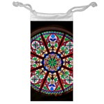 Church Window Window Rosette Jewelry Bag Front