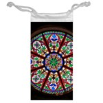 Church Window Window Rosette Jewelry Bag Back
