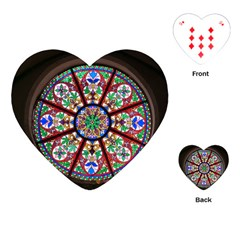 Church Window Window Rosette Playing Cards (heart)