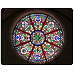 Church Window Window Rosette Fleece Blanket (medium)